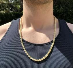 14k 24 Inch Gold Rope Chain Necklace