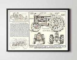1919 ford tractor poster