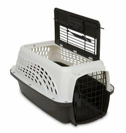 Petmate  2-Door Top Load Pet Kennel Pearl/Coffee - 19 Inch L