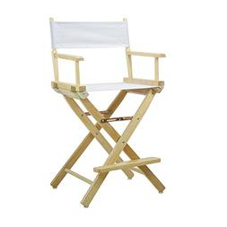 """Casual Home 24"""" Director's Chair Natural Frame with White Ca"""