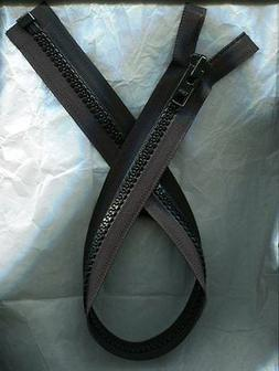 24 inch Black Vislon #10V YKK Heavy Duty Separating Zipper N