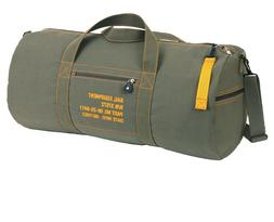 Rothco 24 Inch Canvas Equipment Bag - Olive Drab Shoulder Du