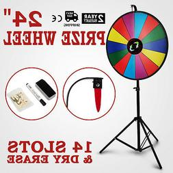 24 Inch Color Prize Wheel Folding Tripod Floor Stand Fortune