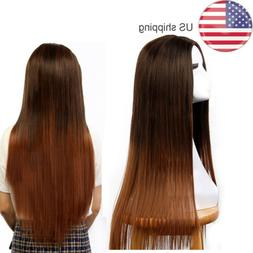 24 Inch Cosplay Costume Full Head Hair Wig Long Clip Piece P