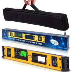 24-Inch Digital Magnetic Level- IP54 Dust and Waterproof Ele