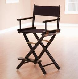 24 Inch Director's Chair Black Frame Canvas Removable Foot R