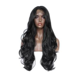 24 inch long body wave synthetic lace
