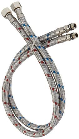 24 inch long faucet connector braided stainless