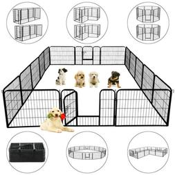 24 Inch Tall Dog Playpen Large Crate Fence Pet Play Pen Exer