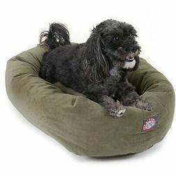24 Sage Suede Bagel Dog Bed By Majestic Pet Products