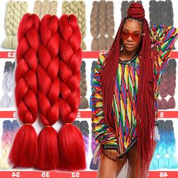 24inch Winding Long Braiding Hair Extension 100% Real Thick