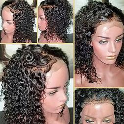 360 Lace Frontal Wig 180% Density Curly Hair Pre-Plucked Hai