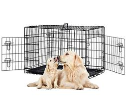 PayLessHere 48 XXXL Dog Crate WDivider Double-doors Folding