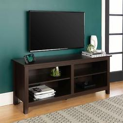 """WE Furniture 58"""" Wood TV Stand Storage Console, Driftwood"""