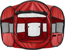 Paws & Pals 8-Panel Pop-Up Tent with Carry Bag Portable Play