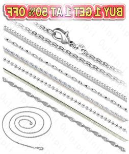 925 Sterling Silver Diamond Cut Rope Snake Rolo Link Chain N