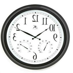 Outdoor Large Atomic Wall Clock Accurate Indoor Thermometer