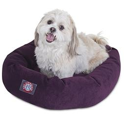 24 inch Aubergine Villa Collection Micro Velvet Bagel Dog Be