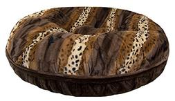 BESSIE AND BARNIE 24-Inch Bagel Bed for Pets, X-Small, Godiv