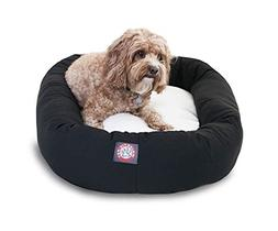 "Majestic Pet Products Bagel Dog Bed size: 24""L x 19""W x 7""H,"