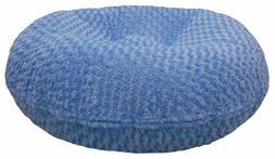 BESSIE AND BARNIE 24-Inch Bagel Bed for Pets, X-Small, Blue