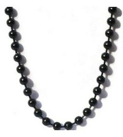 Black Stainless Steel 24 Inch 3.2mm Ball Link Neck Chain Nec