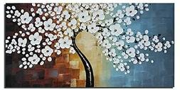 Wieco Art Blooming life Extra Large Abstract Floral Oil )