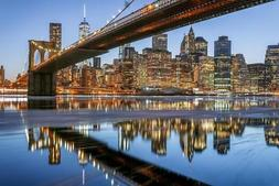 Brooklyn Bridge and New York City Skyline Photo Art Print Po