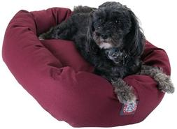 24 inch Burgundy Bagel Dog Bed By Majestic Pet Products