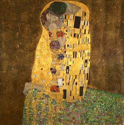Canvas Print Kiss Klimt Painting Picture Reproduction Home D