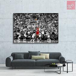 Canvas print wall art photo big poster Michael Jordan Last S