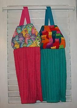 Cats Tabby Neon Bright Colored Hanging Kitchen Oven Hand Dis