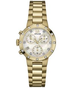 Bulova Women's Chronograph Diamond Accent Gold-Tone Stainles