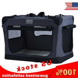 collapsible foldable dog crate indoor and outdoor