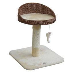 Go Pet Club Cupped 24.5 in. Cat Tree, Beige, 24-Inch