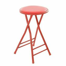24 Inch Cushioned Folding Stool - Holds up to 250 Pounds - E