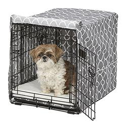Midwest Homes for Pets CVR24T-GY Dog Crate Cover with Fabric