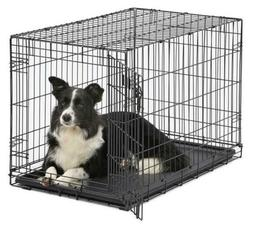 MidWest Homes for Pets Dog Crate | Door iCrate Single & Doub