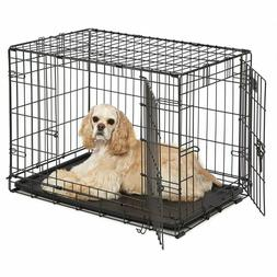 Dog Crate With Divider Panel Tray Single & Double Door Heavy
