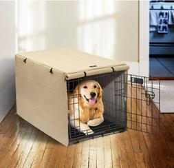 Double Door Dog Crate Cover Kennel 24 30 36 42 48 Inches Pet