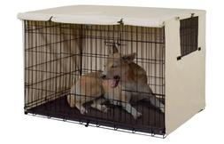 Double Door Dog Crate Cover Kennel 24-48 Inches Wire Dog Cra
