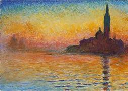 Wieco Art Dusk in Venice Canvas Prints Wall of Famous Oil Pa