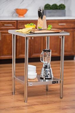 TRINITY EcoStorage™ 24 in. Square Stainless Steel Tabl