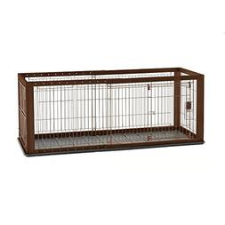 Richell Expandable Pet Crate with Floor Tray Small Brown 37""