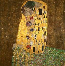 Wieco Art - Extra Large The Kiss by Gustav Klimt Famous Oil