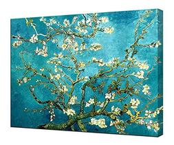 Wieco Art Flowers Paintings Canvas Wall Art for Living Room