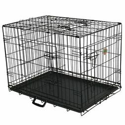 GoPetClub 3-Door Metal Pet Crate, 24-Inch