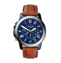 Fossil® Men's Grant Blue and Silvertone Watch with Light