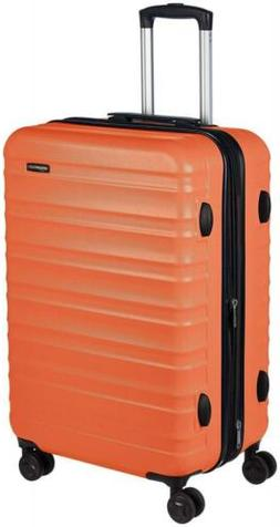 AmazonBasics Hardside Spinner Luggage - 24-Inch, Orange