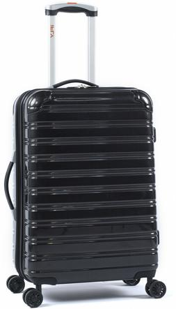 Hardside Spinner Suitcase Rolling Luggage 24-Inch Travel Bla